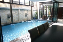 Villa for rent in An Phu Ward 300 sqm 4BRs modern design has garden garage and pool
