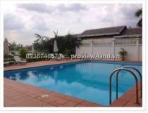 Villa for rent in compound area district 2 on Nguyen Van Huong St.,