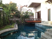 Villa for sale in District 2, compound area, view of river 660sqm