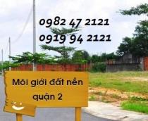 Bán đất mặt tiền Trần Não Quận 2 diện tích đất 25x100m