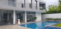 Biệt thự tại Thảo Điền cần cho thuê 650m2 4 phòng ngủ hồ bơi sân vườn lớn
