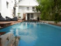 Villa for sale in Thao Dien No 43 Street 506 sqm 1 floor 4BRs has pool garden and garage