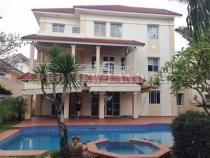 Villa rental in Thao Dien area, river frontage, 4 bedrooms, nice view