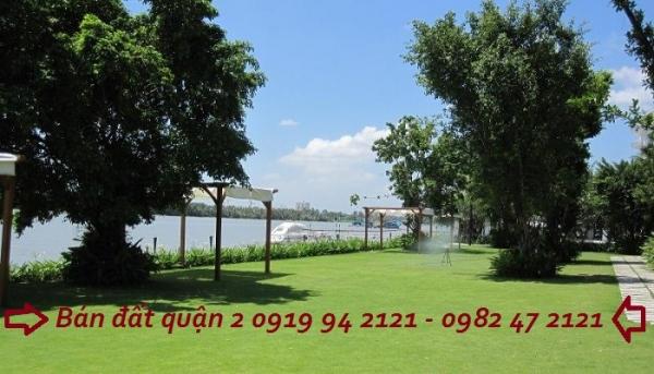 Bán đất bờ sông saigon Thảo Điền Quận 2 rộng 400m2