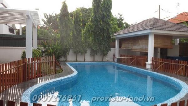 Biệt thự khu Trần Não quận 2 cần bán với 555m2 đất