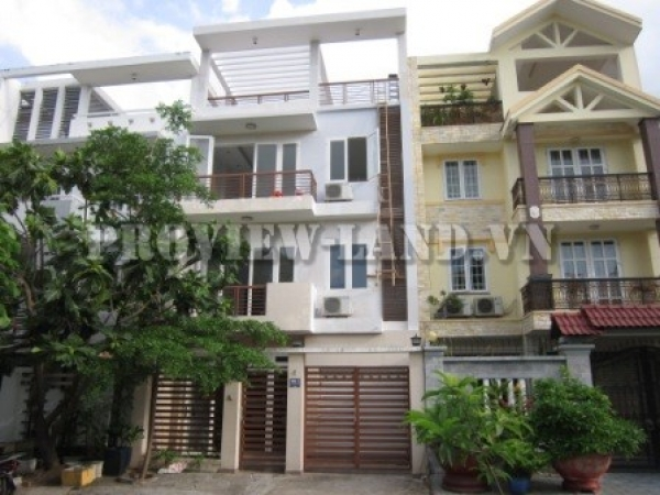 House for rent in An Phu ward, District 2, security zone, 4 bedrooms