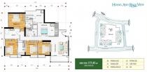 Cho thuê căn hộ Hoàng Anh Riverview 4 phòng ngủ 178m2