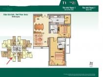 Bán căn hộ cao cấp tầng cao 89m2 2PN Saigon Pearl tòa Topaz thiết kế hiện đại rộng rãi