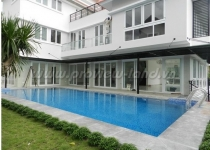 Villa for rent with frontage in Nguyen Van Huong street, Thao Dien Ward 5 bedrooms