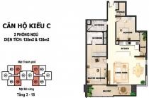 Bán căn hộ 132m2 2PN thiết kế sang trọng River Garden tầng cao ban công view sông